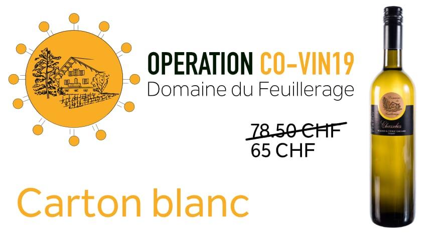 Carton spécial CO-VIN 19 blanc