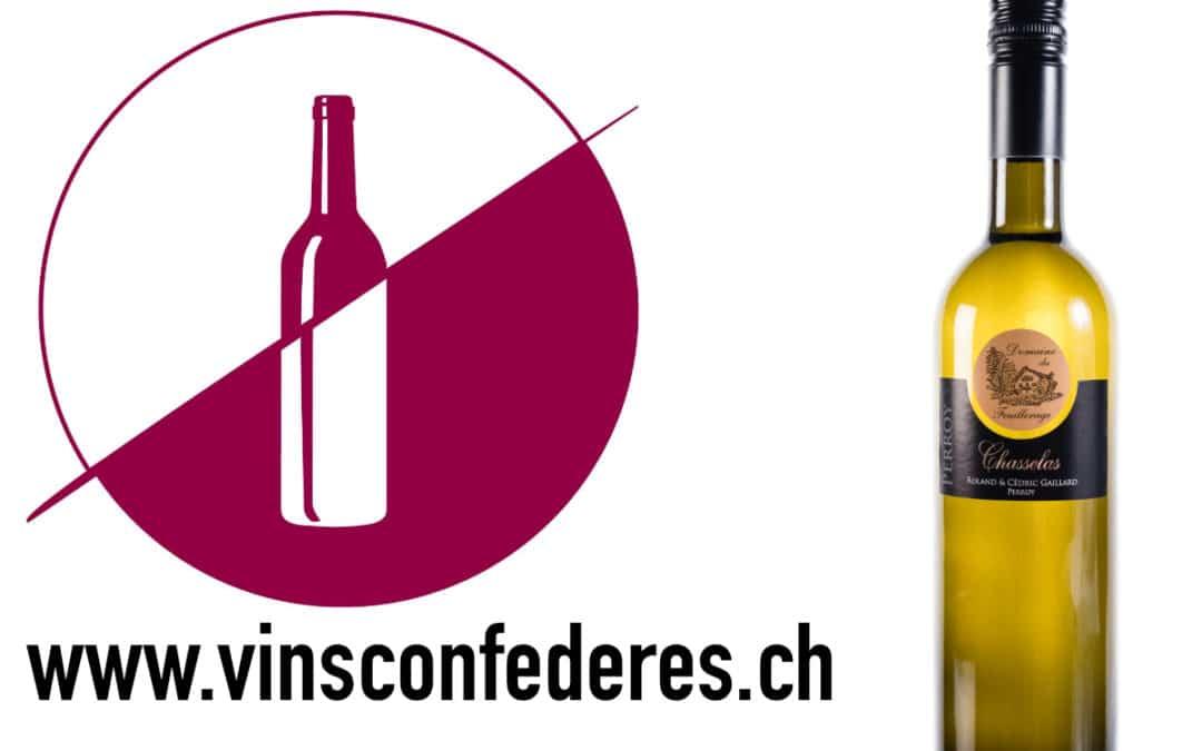 Les vins du domaine dégustés par vinsconfédérés.ch
